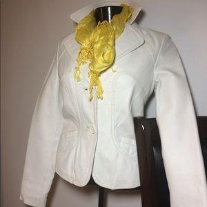Jackets & Blazers - White Real Leather Jacket